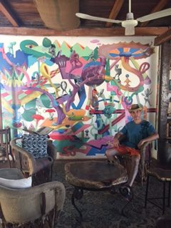 Art on the walls at Zenti'k