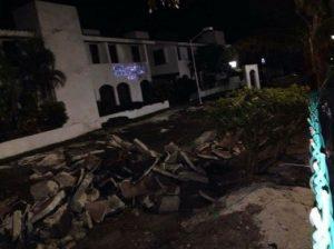 Cancun cycle path was damaged. (PHOTO: Cancun News MX)