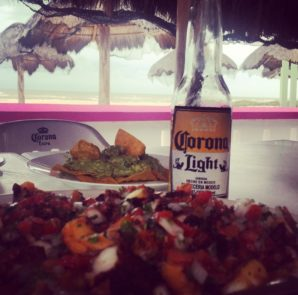 A plate of ceviche served at the Muelle de Sisal restaurant in Sisal, Yucatan. (PHOTO: Miranda Allfrey)