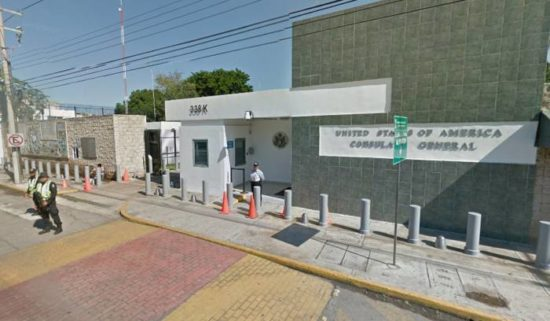 Shots were fired near the U.S. Consulate in Merida Wednesday Jan. 25. (PHOTO: sipse.com)
