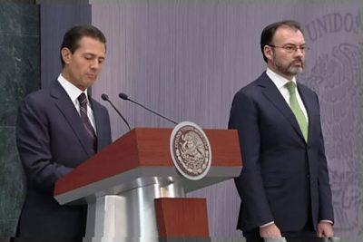Luis Videgaray, right, with President Peña Nieto. (PHOTO: mexiconewsdaily.com)