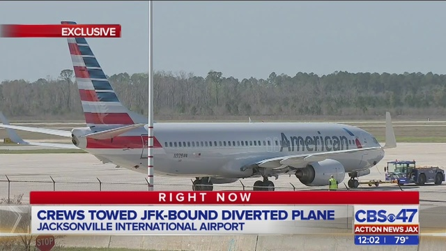 American Airlines jet was to be inspected. (PHOTO: Action News Jax)