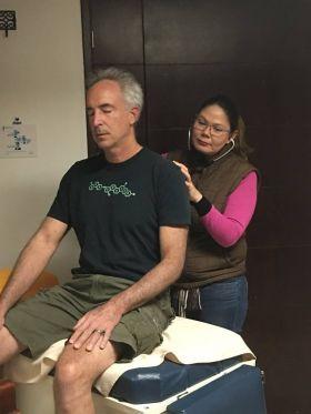 Chuck Bolotin being examined in Ajijic, Mexico. (PHOTO: courtesy the writer)