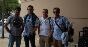 "Bullfighter Francisco Rivera Ordóñez ""Paquirri"" (left) with members of his team. (PHOTO: yucatan.com.mx)"