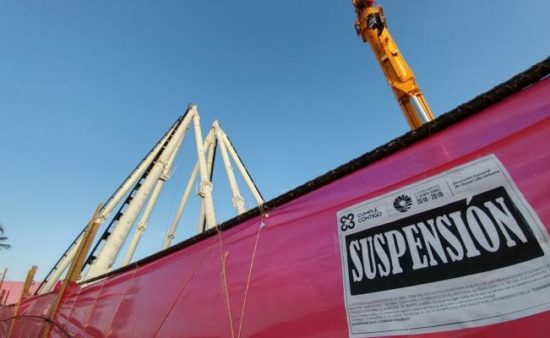 Construction of a giant ferris wheel in Cancun has been suspended. (PHOTO: El Universal)