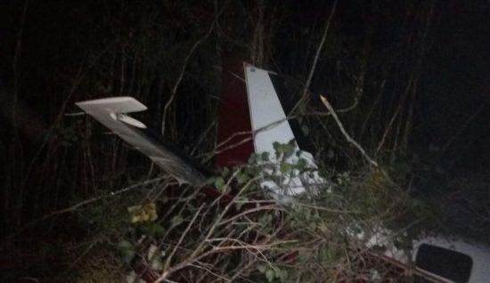Scene of light plane crash near Chichen Itza airport. (PHOTO: Televisa)