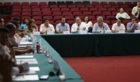 The meeting in Merida to ratify the Special Economic Zonein Progreso was attended by leaders of Yucatan's main business groups. (PHOTO: Sefoe)