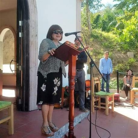 Courtesy of the International Peace Garden Foundation International Peace Garden Foundation President Paula Savage of Batavia helped commemorate Mexico and Puerto Vallarta's addition to a five-continent network of Peace Garden sites earlier this month.