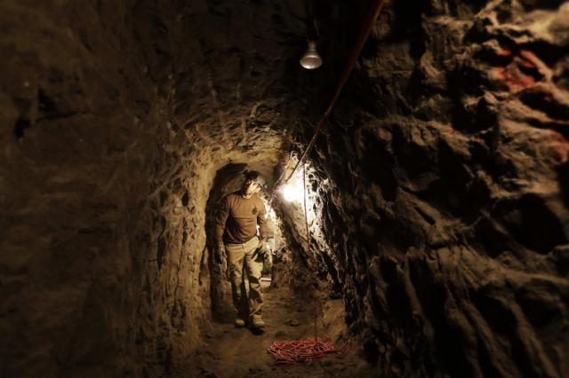 Border Patrol 'tunnel rats' plug underground passages (Photo: Yahoo News)