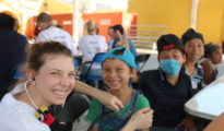 Medical students participated in the Yucatan outreach. (PHOTO: UADY)
