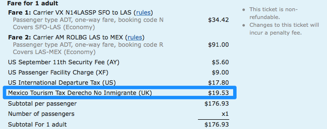 How To Request Mexico Tourism Tax Refunds For Airline Flights By - Invoice klm