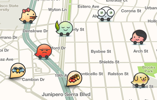 Screen map from Waze app (Photo:Google)