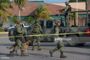 Mexican army troops patrol Cancun. (PHOTO: gettyimages.com)
