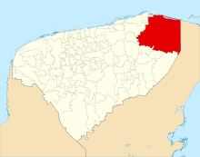Location of Tizimin, in the east of the state (Image: Google)