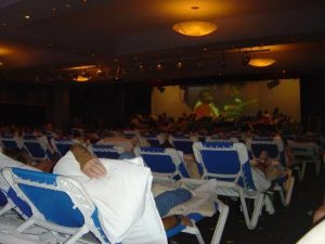 Golden Parnassus Resort guests spent the night in the hotel shelter during Hurricane Emily. (PHOTO: tripadvisor.com)