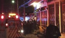 The scene outside the apartment where attack occurred. PHOTO: cancunissimo.com