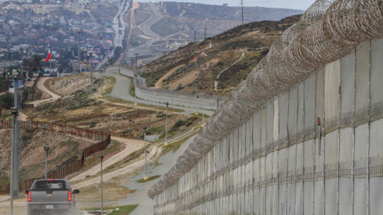 Existing border wall near San Diego. (PHOTO: latimes.com)