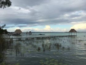 Bacalar lake. (PHOTO: Chuck Bolotin)