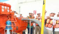 Yucatan Governor in the New Natural Gas Plant (Photo: Celis, Diario de Yucatán)
