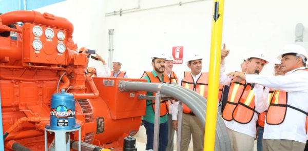 Yucatan Governor in the New Natural Gas Plant (Photo: Celis, Diario de Yucatán)