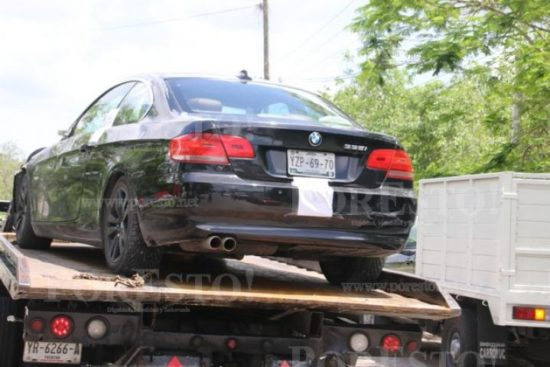 BMW impounded by authorities in connection with hit-and-run death of Canadian Lynn McClure. Photo: Por Esto