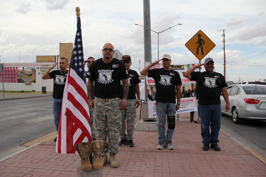 Deported U.S. military veterans commemorating Memorial Day, Ciudad Juarez, Mexico (Photo: AFP / Getty attribution)