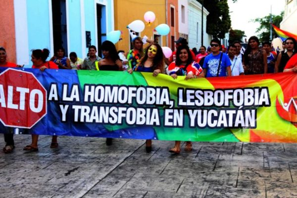 "Pride March 2016 ""Stop Homophobia, Lesbophobia and Transphobia in Yucatán"" Photo: Google"