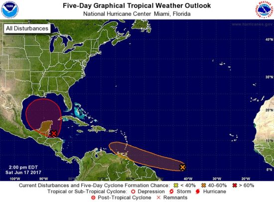 Map: National Hurricane Center