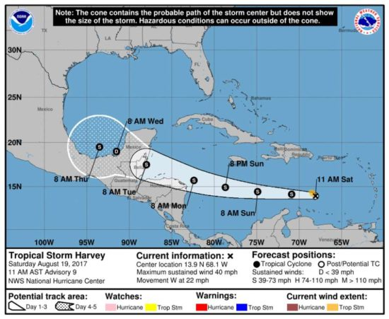 Tropical Storm Harvey Weakens To Depression As It