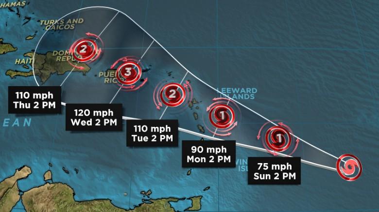 following irmau0027s path, hurricane maria takes aim at caribbean u2013 thehurricane maria is expected to keep strenghening as it heads toward the caribbean