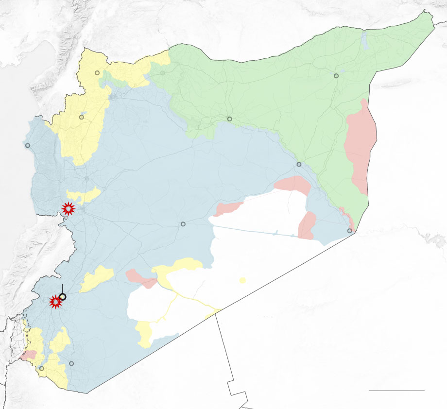 The Syrian Observatory said the Syrian Army's 4th Division and Republican Guard was among the targets