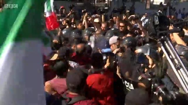 Migrant Caravan Mexican Border City Tijuana Protests