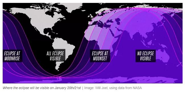 Total Lunar Eclipse Upon The Yucatan Peninsula On Sunday January
