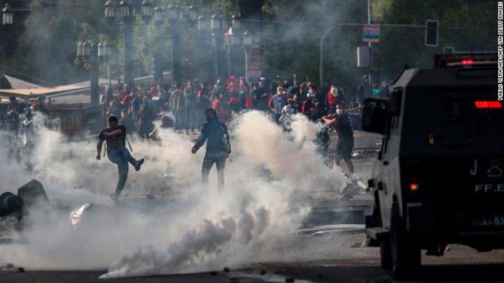 Violent protests around the world