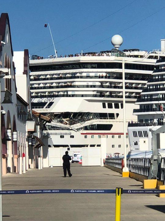 Carnival Cruise Ships Collide In Cozumel