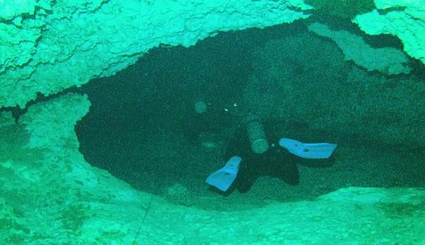 cenote diver.